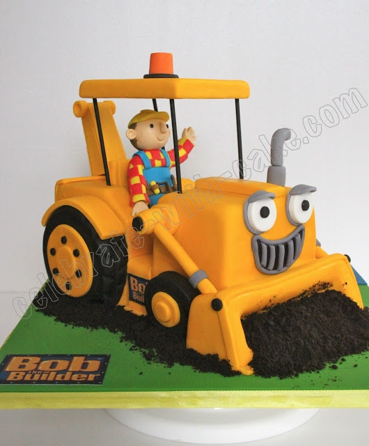 digger cake template - celebrate with cake bob the builder scoop cake bob the