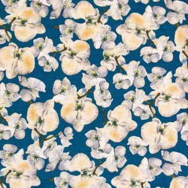 Viscose Twill Fabric Teal Beige 150cm