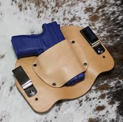 Holster will hold sub-compact, compact to full size and 1911 style pistols Same holster works for right or left hand draw Leather Holster will break into your firearm The most comfortable IWB holster