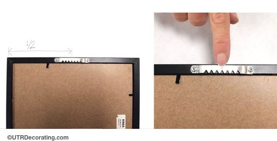 Mirror Frame Adhesive How To Attach A Sawtooth Hook To A Frame Picture Hanging