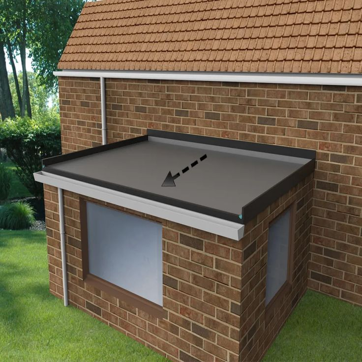 Pin by Tina on Small house design in 2020 Epdm flat roof
