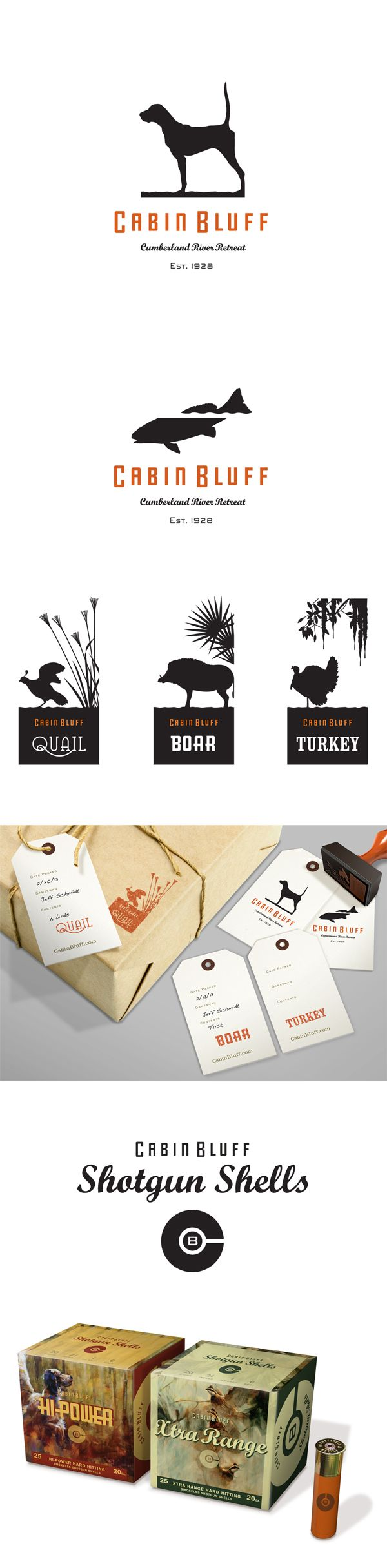 Cabin Bluff – Logo and merchandise marks for a world-class hunting destination.