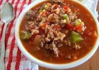 Stuffed bellpepper soup