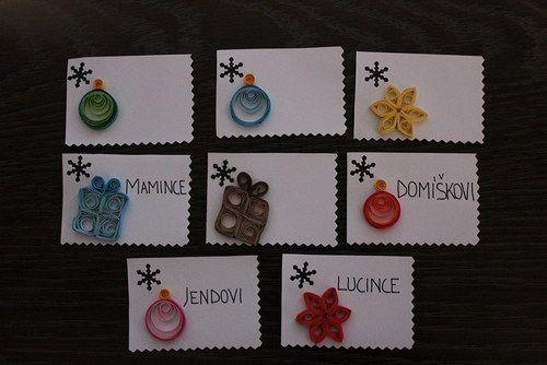 Vánoce, vánoce přicházejí .. jmenovky na dárky ...