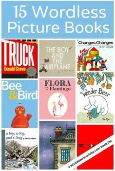 Wordless books for kids. Great for building literacy