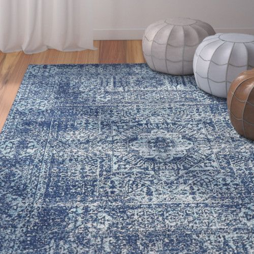 Features:  -Rug is made of polypropylene.  -Easy-to-clean, stain resistant and does not shed.  Technique: -Machine woven.  Primary Color: -Navy Blue/Aqua Blue/White.  Material: -Synthetic.  Product Ty
