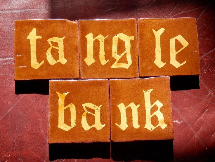 Inlaid medieval-style tiles by Tanglebank Tiles