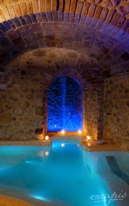 Spa im Hotel Oste del Castello. Villa Verucchio, Italien. Emilia-Romagna