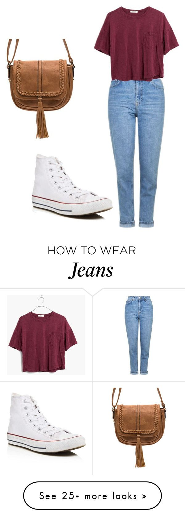 """Mom jeans ♥️ part 1"" by asiarobards on Polyvore featuring Topshop, Converse and Madewell"