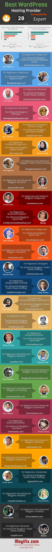 best wordpress hosting provider infographic