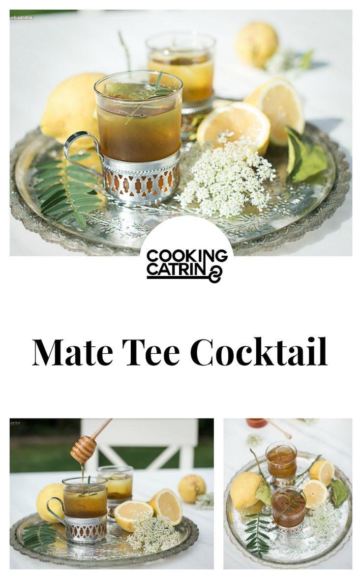 Mate, Tee, Cocktail, Drink, Tea, Erfrischungsgetränk, Getränk, Honey, Honig, Lemon, Zitrone