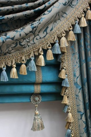 #Luxurious tasselled Roman Blinds add a touch of colour and elegance to any room   Oceanair