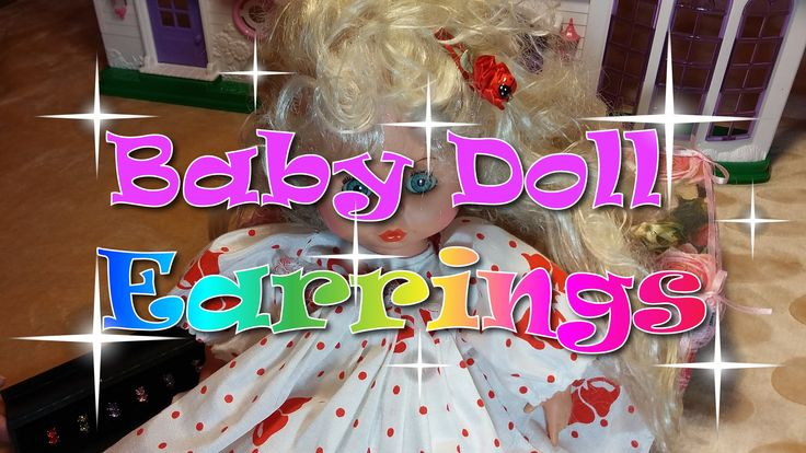 Baby Doll Earrings!! Colorful diamonds!!!