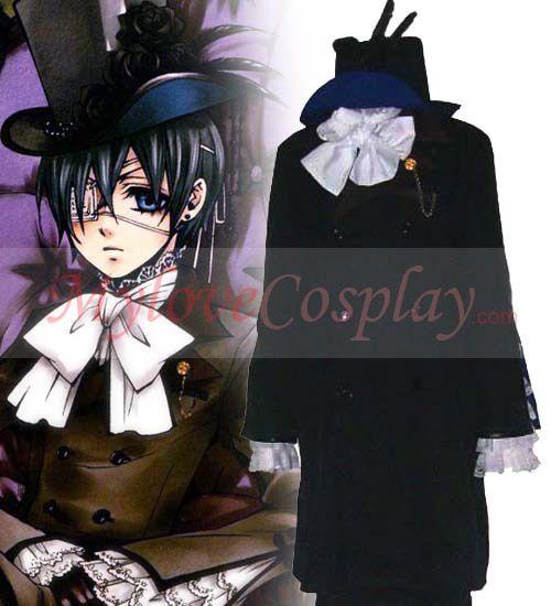 Black Butler Cosplay Costumes Ciel Cheap Uniforms Black