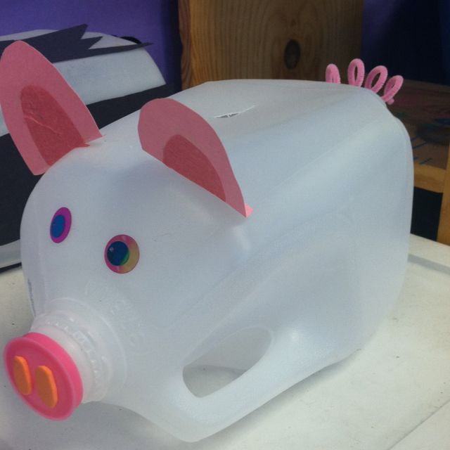 35 best images about vbs on pinterest clear ornaments for Plastic bottle piggy bank craft