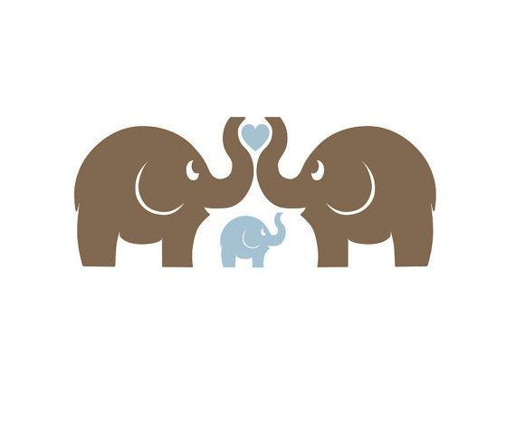 Elephant family wall decals Baby Nursery room by FairyDustDecals, $27.00