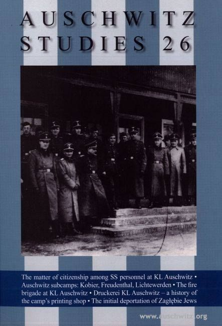 The first number of the English language Auschwitz Studies has been published by the Auschwitz-Birkenau State Museum.   More: http://en.auschwitz.org/m/index.php?option=com_content&task=view&id=1090&Itemid=7  On-line bookstore: http://en.auschwitz.org/m/index.php?page=shop.product_details&flypage=shop.auschwitz&product_id=135&category_id=10&manufacturer_id=0&option=com_virtuemart&Itemid=83