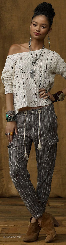 Ralph Lauren Denim & Supply Cotton Crewneck Pullover | BuyerSelect.com