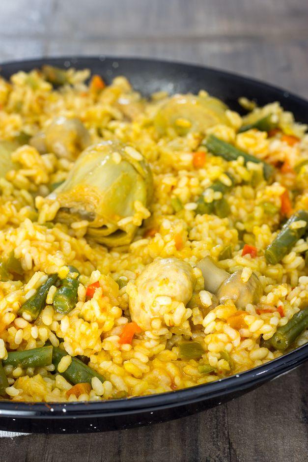RECETA CASERA | Aprende a hacer una sabrosa paella de verduras. Es un plato vegano, muy fácil de hacer y que encanta a toda la familia.