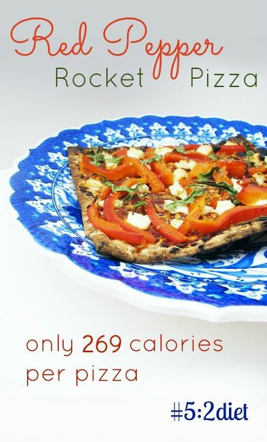5:2 Diet - Pepper and Rocket (Arugula) Pizza = 269 calories and utterly delicious! Result! #5:2diet #thefastdiet #veggierecipes