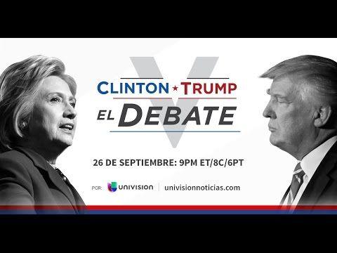 En vivo : El debate presidencial entre Hillary Clinton y Donald Trump