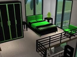 Neon Green and black bedroom