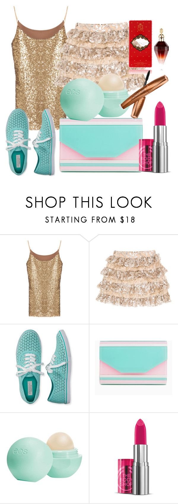 """""""Untitled #196"""" by sara-bitch1 ❤ liked on Polyvore featuring Alice + Olivia, Aéropostale, Eos and The Body Shop"""