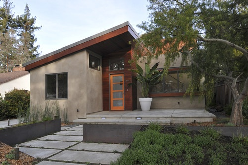 Ana Williamson contemporary exterior. So cute in a rustic sort of way