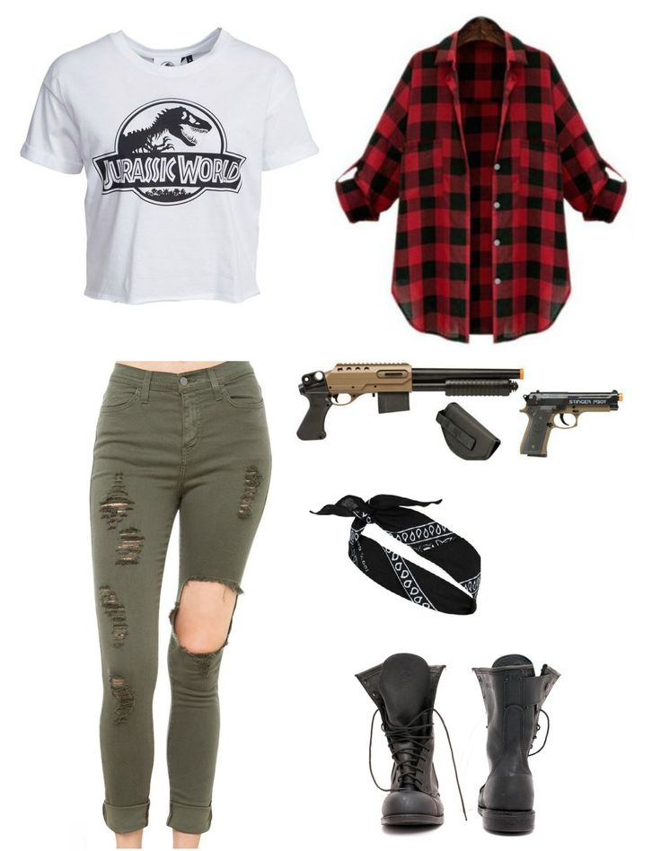 Zombie apocalypse outfit /Crosman Stinger FPS-325 pistol and S32P FPS-350 rifle spring airsoft guns