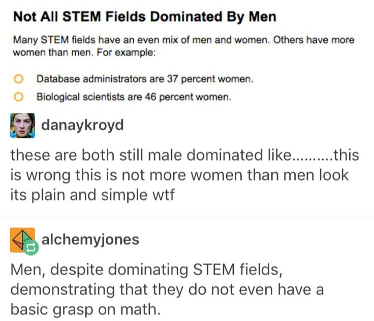 "when I read that headline, I read it in the exact same voice in my head when I read ""Not all men!"" ""Not all STEM fields!"""