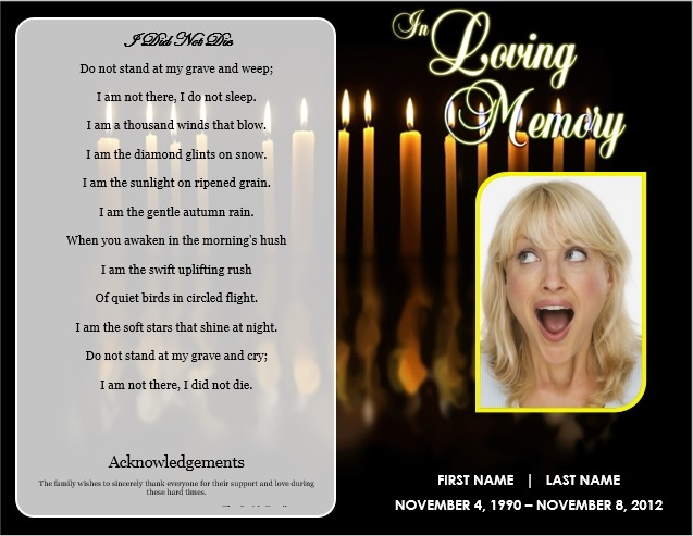 73 best Printable Funeral Program Templates images on Pinterest - funeral programs examples