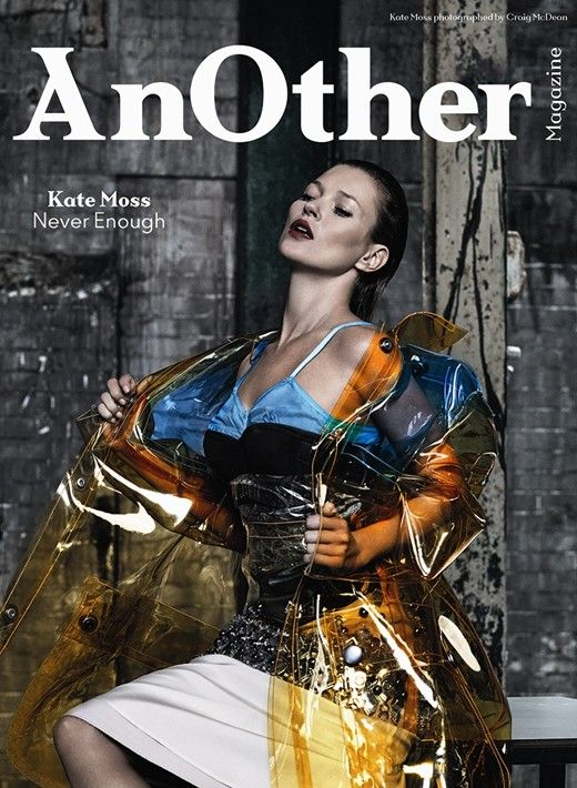 Kate Moss on one of the four covers for AnOther Magazine A/W14. Photography by Craig McDean, Styling by Olivier Rizzo