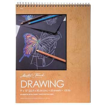 Master's Touch Black Drawing Sketch Pad