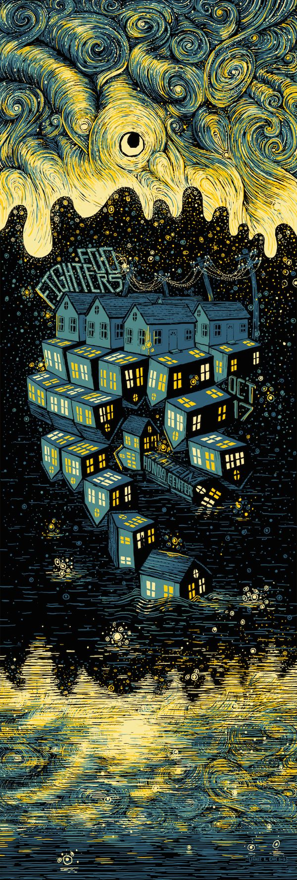 Foo Fighters Poster (and Art Print) by James Eads (Onsale Info)
