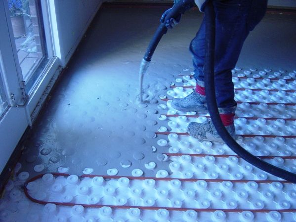 Go green with a radiant heat floor