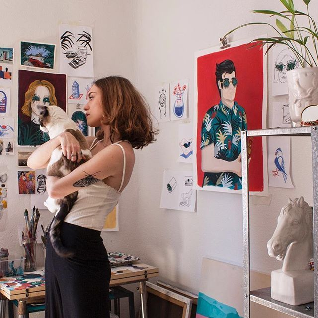 Lovely studio with @mercedesbellido