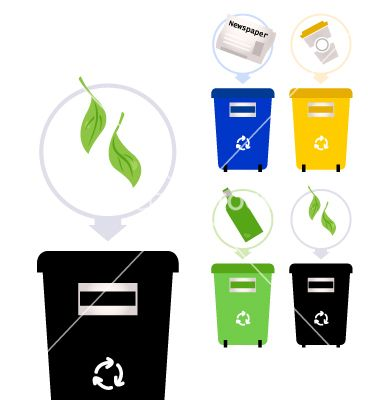 Separate garbage collection isolated on white vector 1292190 - by lordalea on VectorStock®