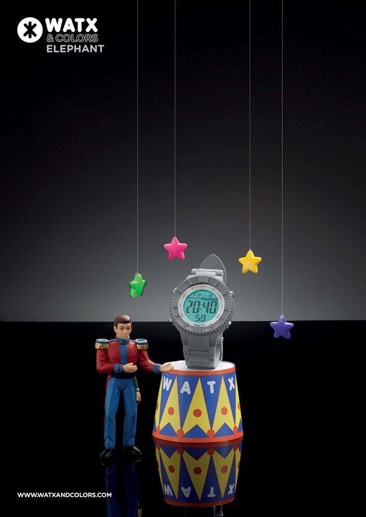 WATX & COLORS Elephant: Relojes de colores tendencia con esferas y correas intercambiables. ¡Más de 100 combinaciones diferentes para estrenar reloj cada día!