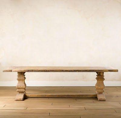 restoration hardware table | Restoration Hardware's Salvaged Trestle Dining Table = $3,180.00