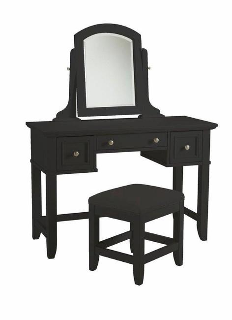 Best Bedford Black Vanity Table Bench Home Styles 5531 72 400 x 300