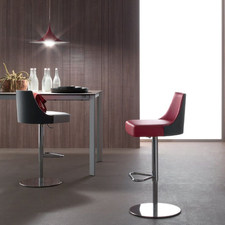 Mila Stool This stool is absolutely amazing. Its backrest is very comfy and its design reminds of the stools in the American diner - we love it and it is an absolute centrepiece in every environment. A very exclusive piece of furniture that we are sure you'll love.