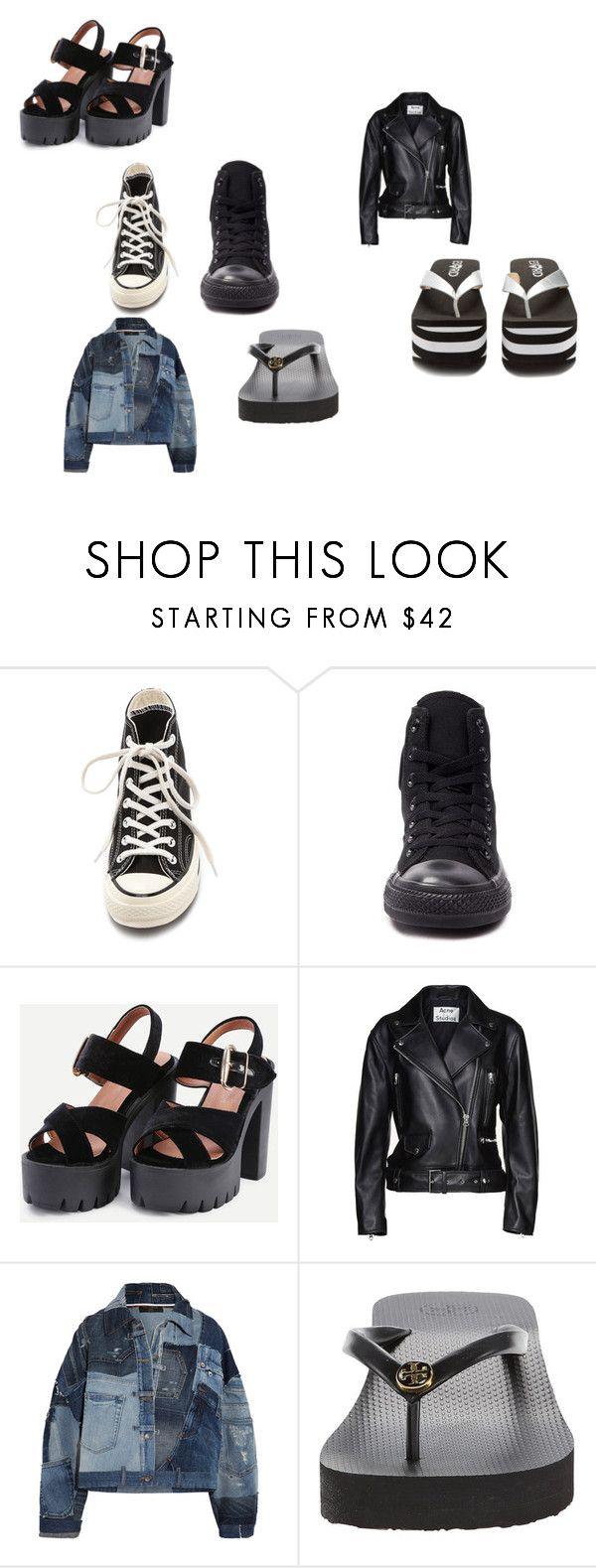 """sapatos"" by garciasara-sg on Polyvore featuring moda, Converse, Acne Studios, Dolce&Gabbana, Tory Burch e Rocket Dog"