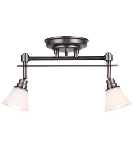 DVP8382PW-OP Richmond 2 Light Track Pewter with Opal Glass