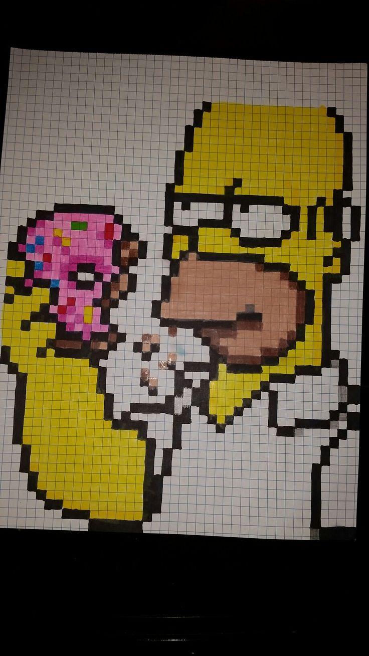Homero Pixel Art Pixel Art Dibujos Sencillos Dibujos