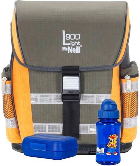 1800**Školní batoh, taška MCNEILL CHIP KHAKI/ORANGE, Ergo Light 900, 3 dílný set