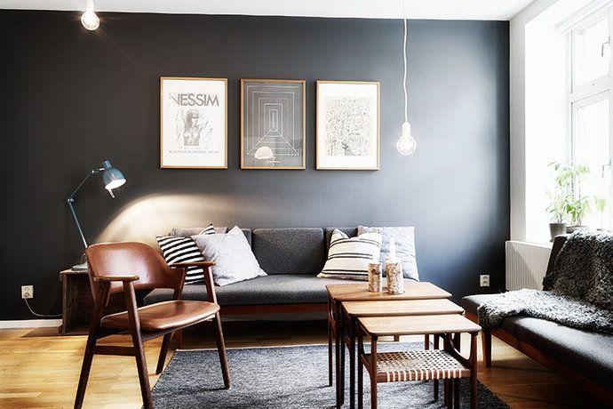 Bilder, Vardagsrum, Matta, Svart, Soffa - Hemnet Inspiration