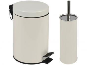Kit Banheiro Lixeira 3L Escova Sanitária Mor - Ágata 008334