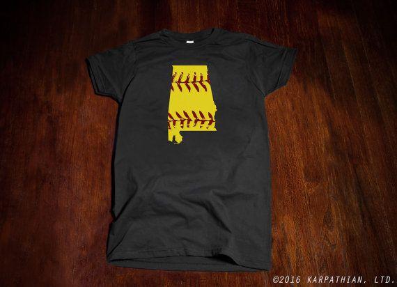 FREE SHIPPING Alabama Softball mens or ladies junior by watatees
