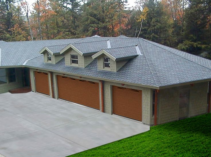 Topsiders timber frame garage kits can be custom designed to match existing architecture like