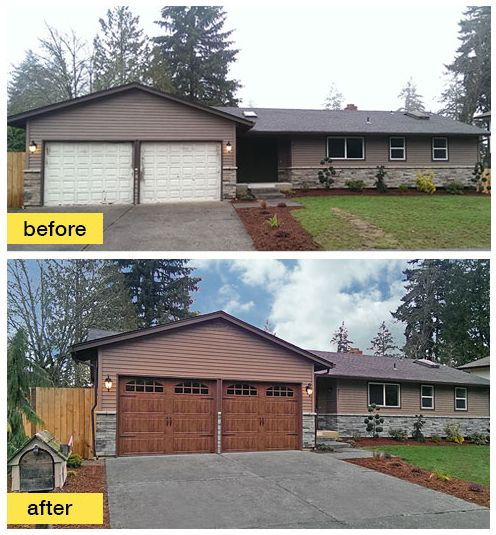 Exterior Garage 164 best before and after exterior makeovers images on pinterest